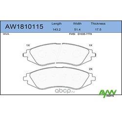 Колодки тормозные передние (AYWIparts) AW1810115