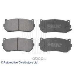 Комплект тормозных колодок, дисковый тормоз (Blue Print) ADG04266