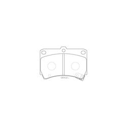 Колодки тормозные дисковые (FIT) FP0466