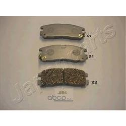 Комплект тормозных колодок, дисковый тормоз (Japanparts) PP594AF
