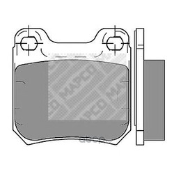 Комплект тормозных колодок, дисковый тормоз (Mapco) 6356