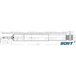 Амортизатор газомасляный задний (BORT) G11238131