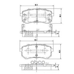 Комплект тормозных колодок, дисковый тормоз (Nipparts) J3610307