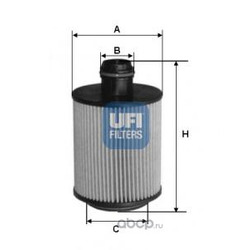 Масляный фильтр (UFI) 2509300