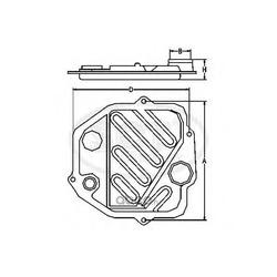 Фильтр АКПП (SCT) SG1018