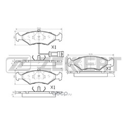 Колодки торм. диск. перед. Ford Fiesta II-IV 84- Escort III IV 80- Mazda 121 III 96- (Zekkert) BS1010