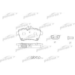 Колодки тормозные дисковые передн MERCEDES-BENZ: A-CLASS 04- (PATRON) PBP1593