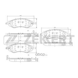 Комплект тормозных колодок, дисковый тормоз (Zekkert) BS1309
