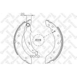 Комплект тормозных колодок (Stellox) 210101SX