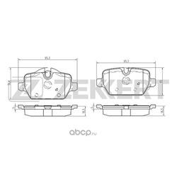 Колодки торм. диск. зад. BMW 1 (E81 E82 E87) 04- 3 (E90-E92) 05- Mini (R60 R61) 10- (Zekkert) BS1018