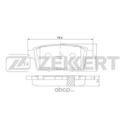 Колодки торм. диск. зад Mazda CX-7 (ER) 07- (Zekkert) BS1229