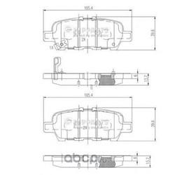 Комплект тормозных колодок, дисковый тормоз (Nipparts) N3611051