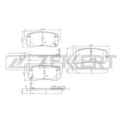 Колодки торм.диск. Hyundai Starex / H1 08- IX55 08-/ Kia Carnival III 06- RE (Zekkert) BS1811