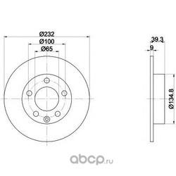 Тормозной диск (Mintex) MDC980