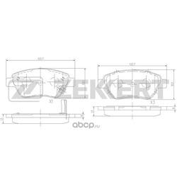 Колодки торм. диск. перед Opel Corsa D 06- (Zekkert) BS2343