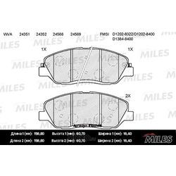 Колодки тормозные HYUNDAI SANTA FE (CM)/(SM) 05-/KIA SORENTO (XM) 09- передние (Miles) E100148