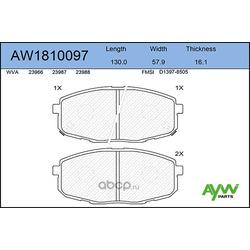 Колодки тормозные передние (AYWIparts) AW1810097