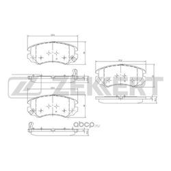 Колодки тормозные (Zekkert) BS1799