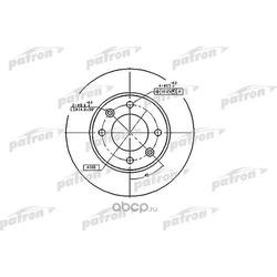 Диск тормозной задний (PATRON) PBD4185