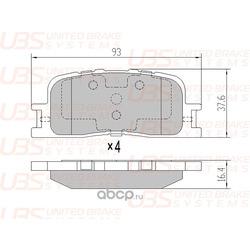 КОЛОДКИ ДИСКОВЫЕ (UBS) B1110016