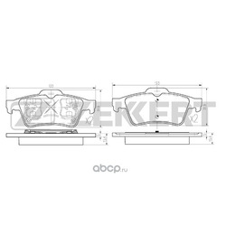 Комплект тормозных колодок, дисковый тормоз (Zekkert) BS1474