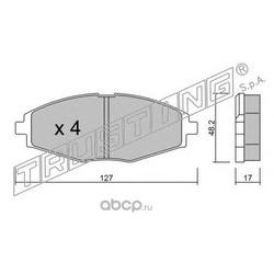 Комплект тормозных колодок, дисковый тормоз (Trusting) 3020