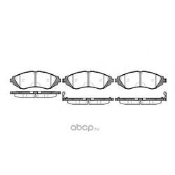 Комплект тормозных колодок, дисковый тормоз (Remsa) 064502