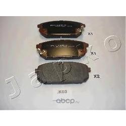 Комплект тормозных колодок, дисковый тормоз (JAPKO) 51K03