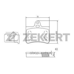 Колодки торм. диск. зад. Citroen C5 (DC RC) 01- C5 Break (DE RE) 01- (Zekkert) BS1020