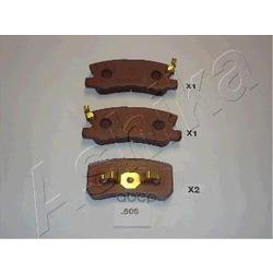 Комплект тормозных колодок, дисковый тормоз (Ashika) 5105505