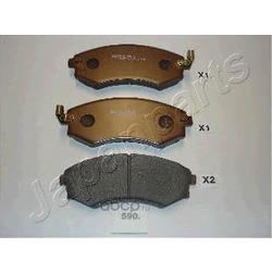 Комплект тормозных колодок, дисковый тормоз (Japanparts) PA590AF