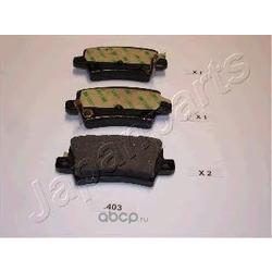 Комплект тормозных колодок, дисковый тормоз (Japanparts) PP403AF