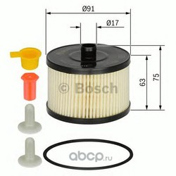 Топливный фильтр (Bosch) 1457431723