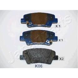 Комплект тормозных колодок, дисковый тормоз (Japanparts) PPK06AF