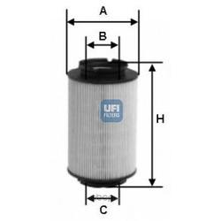 Топливный фильтр (UFI) 2601400