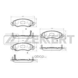 Колодки тормозные дисковые перед. Opel Agila A 00- Suzuki Wagon R III 03- Wagon R+ II 03- (Zekkert) BS1239