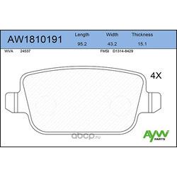 Колодки тормозные задние (AYWIparts) AW1810191