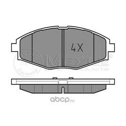 Комплект тормозных колодок, дисковый тормоз (Meyle) 0252324117