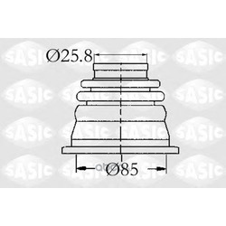 Пыльник приводного вала левый внутренний (Sasic) 4003408