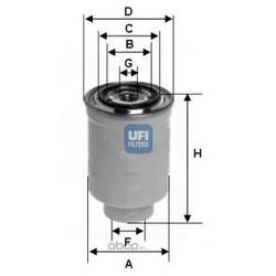Топливный фильтр (UFI) 2441100