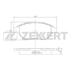 Колодки торм. диск. перед Citroen Berlingo I 96- C3 I 02- C4 I 04- Xsara 98- Peugeot 206 00- 20 (Zekkert) BS1447
