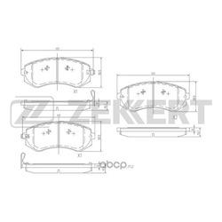 Колодки торм. диск. перед Nissan Almera (N15) 98- Patrol (Y61) 97- (Zekkert) BS1218
