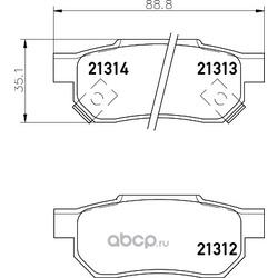 Комплект тормозных колодок, дисковый тормоз (Hella) 8DB355026901