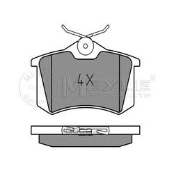 Комплект тормозных колодок, дисковый тормоз (Meyle) 0252096115