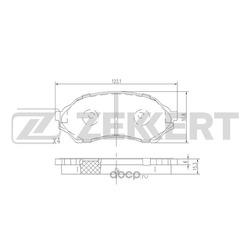 Колодки торм. диск. перед Mazda 323 VI 98- (Zekkert) BS1118