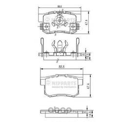 Комплект тормозных колодок, дисковый тормоз (Nipparts) J3614017