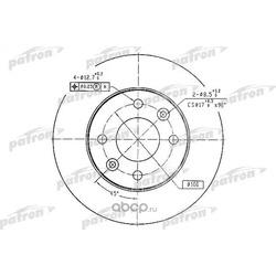 Диск тормозной передний (PATRON) PBD1016