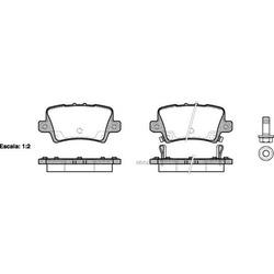 Комплект тормозных колодок, дисковый тормоз (Remsa) 120602