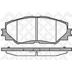 Комплект тормозных колодок, дисковый тормоз (Stellox) 001089BSX