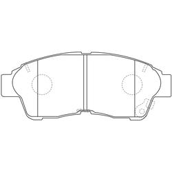 Колодки тормозные дисковые (FIT) FP0562